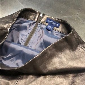 Ann Taylor bronze leather skirt
